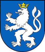 Coat of arms of the town Senec in Slovakia - a rare example of the use of a lion in civic heraldry.