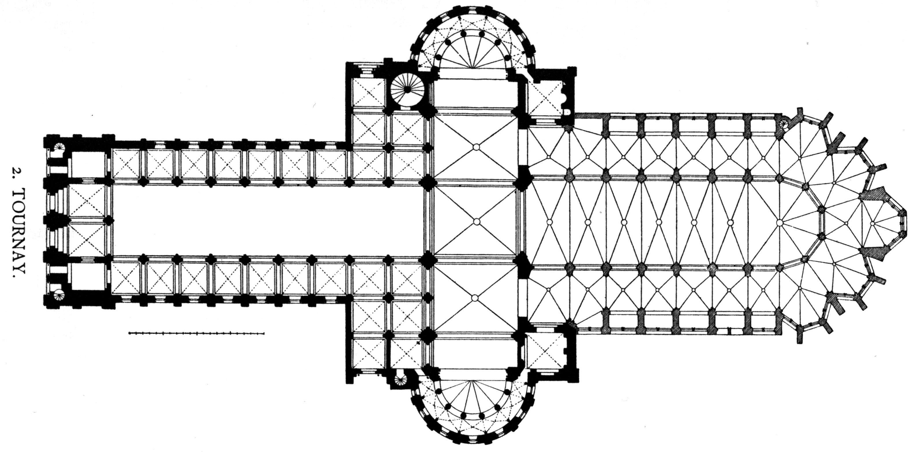 Canterbury Cathedral Floor Plan File Dehio 83 Tournai Floor Plan Ver Jpg Wikimedia Commons