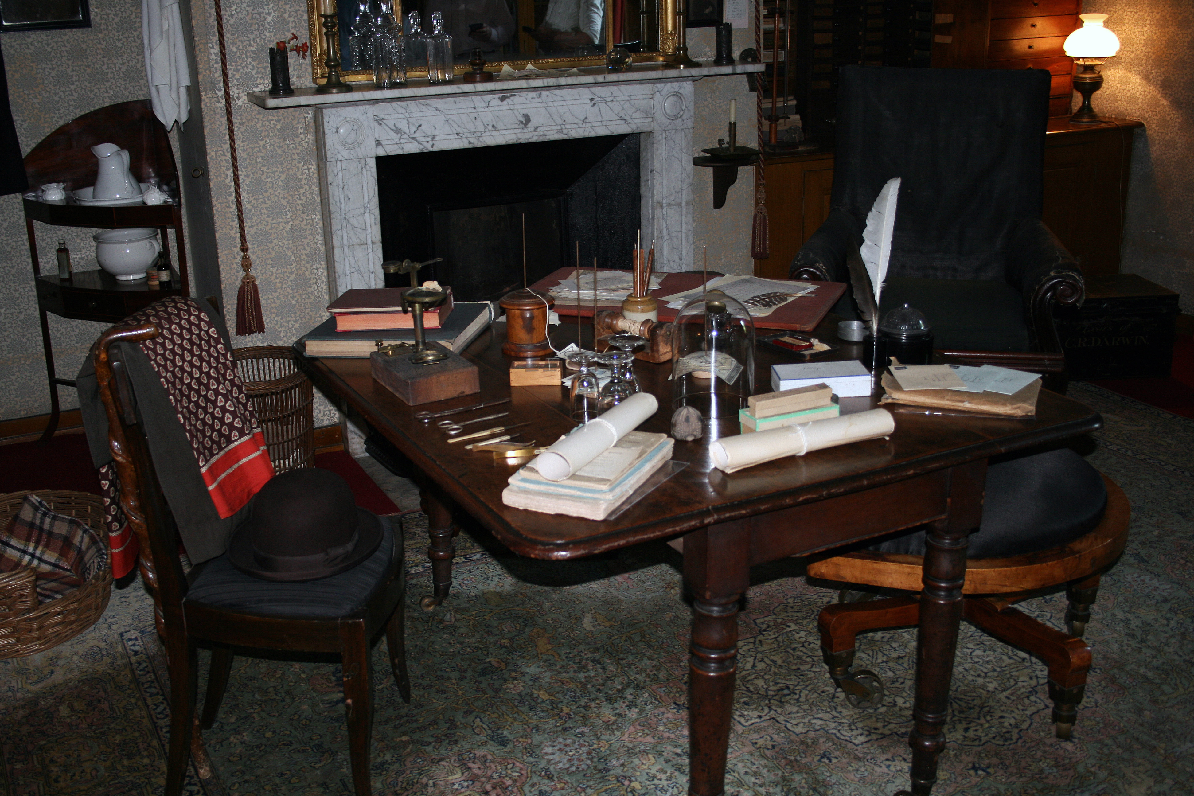 Darwin's study at Down House.Author: Glen, via Wikimedia Commons (CC-BY-2.0)
