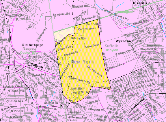 Farmingdale Long Island Map