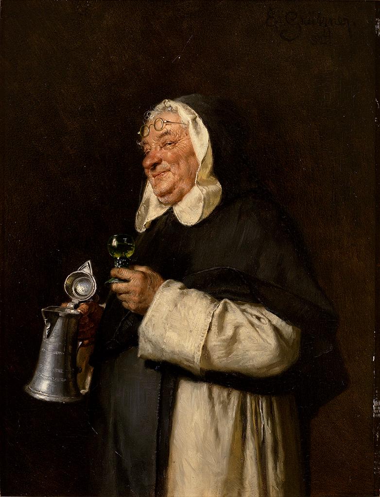 Eduard von Grützner Mönch bei der Weinverköstigung.jpg