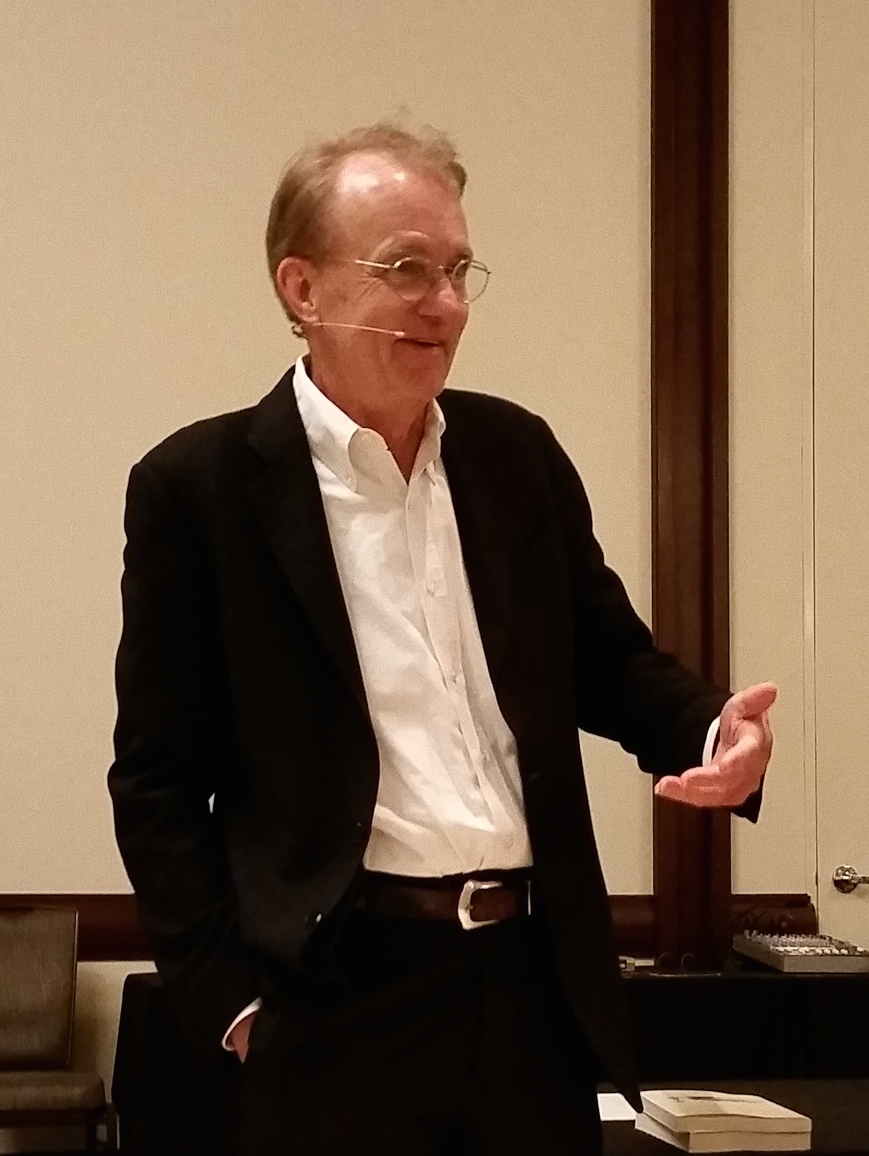 Tufte during his one-day course in Dallas, May 21, 2015