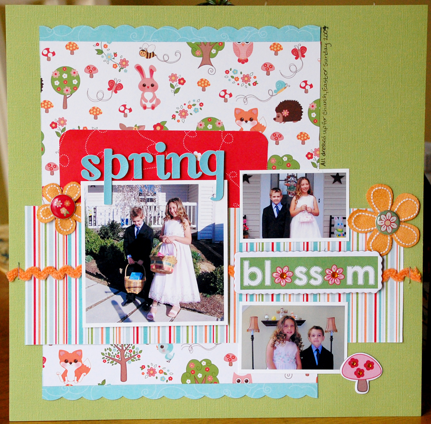 Sample scrapbook page