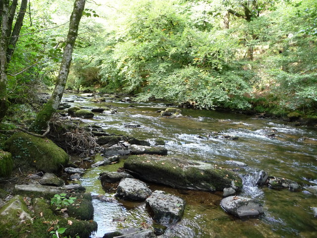 Exmoor , The River Barle and Tarr Steps Woods - geograph.org.uk - 1496863