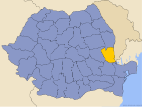 Administrative map of Руминия with Галатс county highlighted