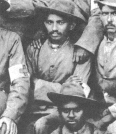 Ghandi in uniform during the Boer War