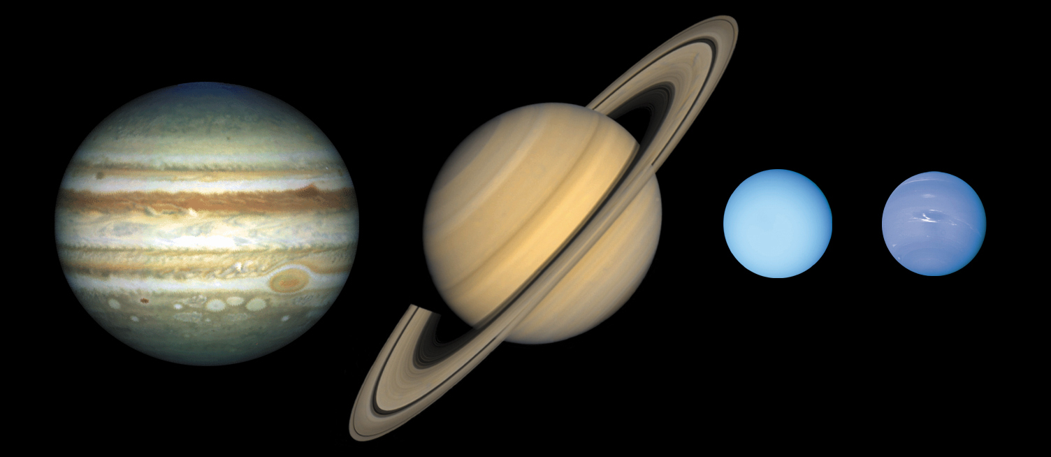 the jovian planets by size - photo #5