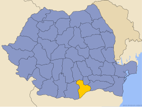 Administrative map of Руминия with Ҷюрҷю county highlighted