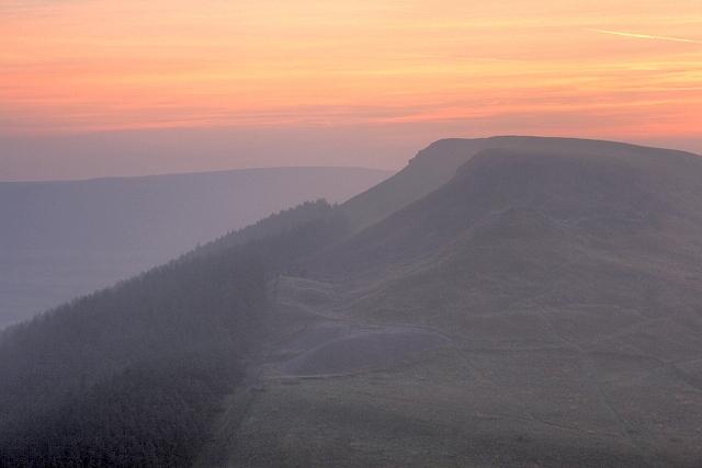 Hasty Bank and Wainstones Before Sunrise - geograph.org.uk - 982677