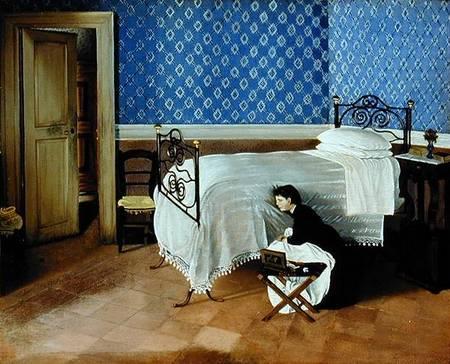 Interior With Figure By Cecioni Lettera
