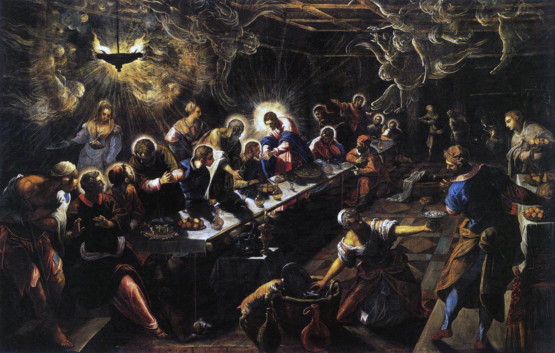 Claroscuro Tnttoreto la ultima cena