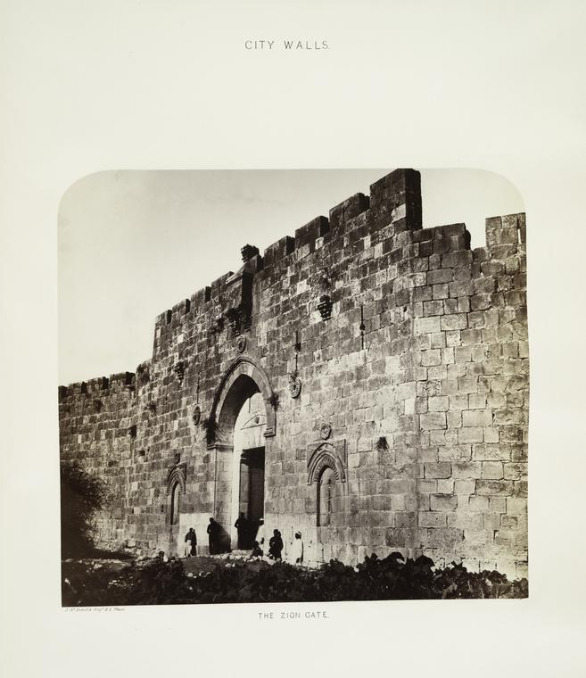 File:James McDonald. City walls, the Zion Gate. 1865.jpg ...