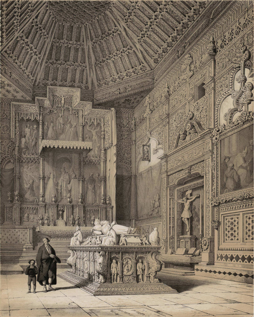 File:Jenaro Pérez Villaamil (1842) Tumba del Cardenal Cisneros, Capilla de S