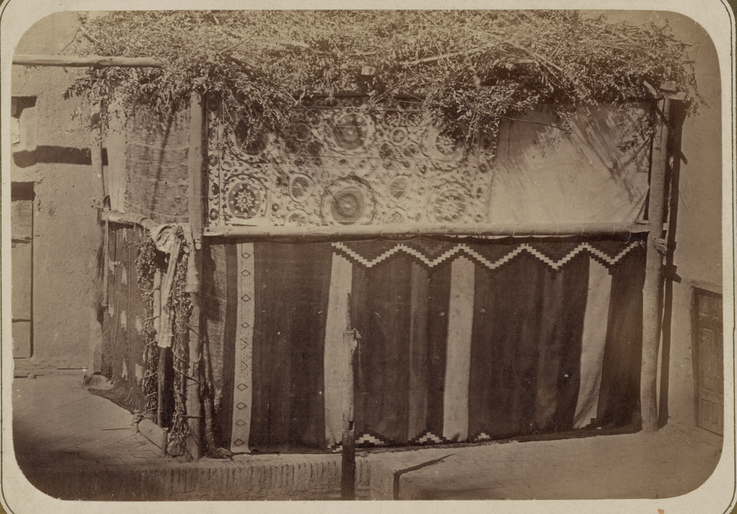 Jewish Customs. External View of a Holiday Tent WDL10716.png
