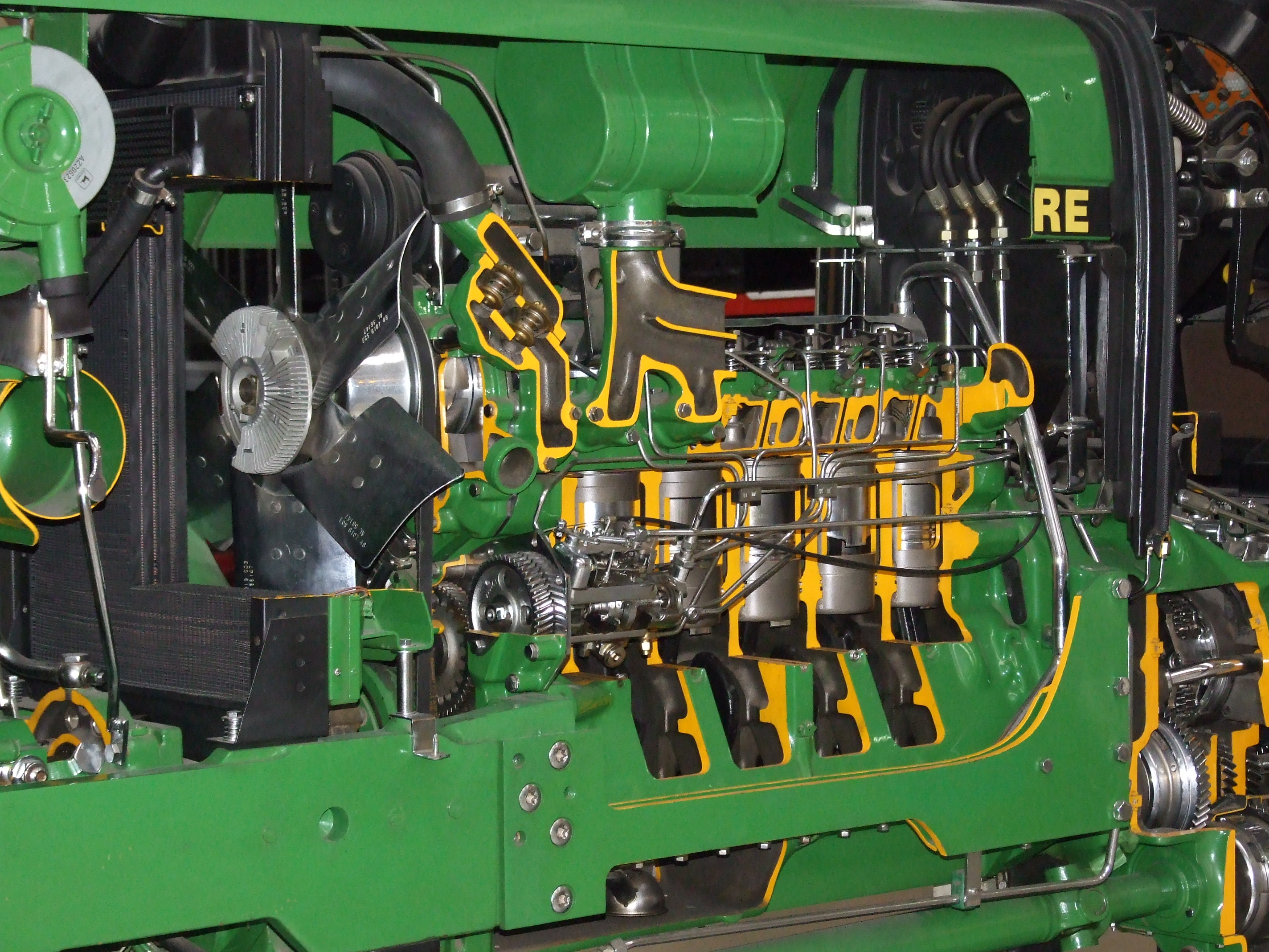 Tractor Engine Parts : Motor parts john deere