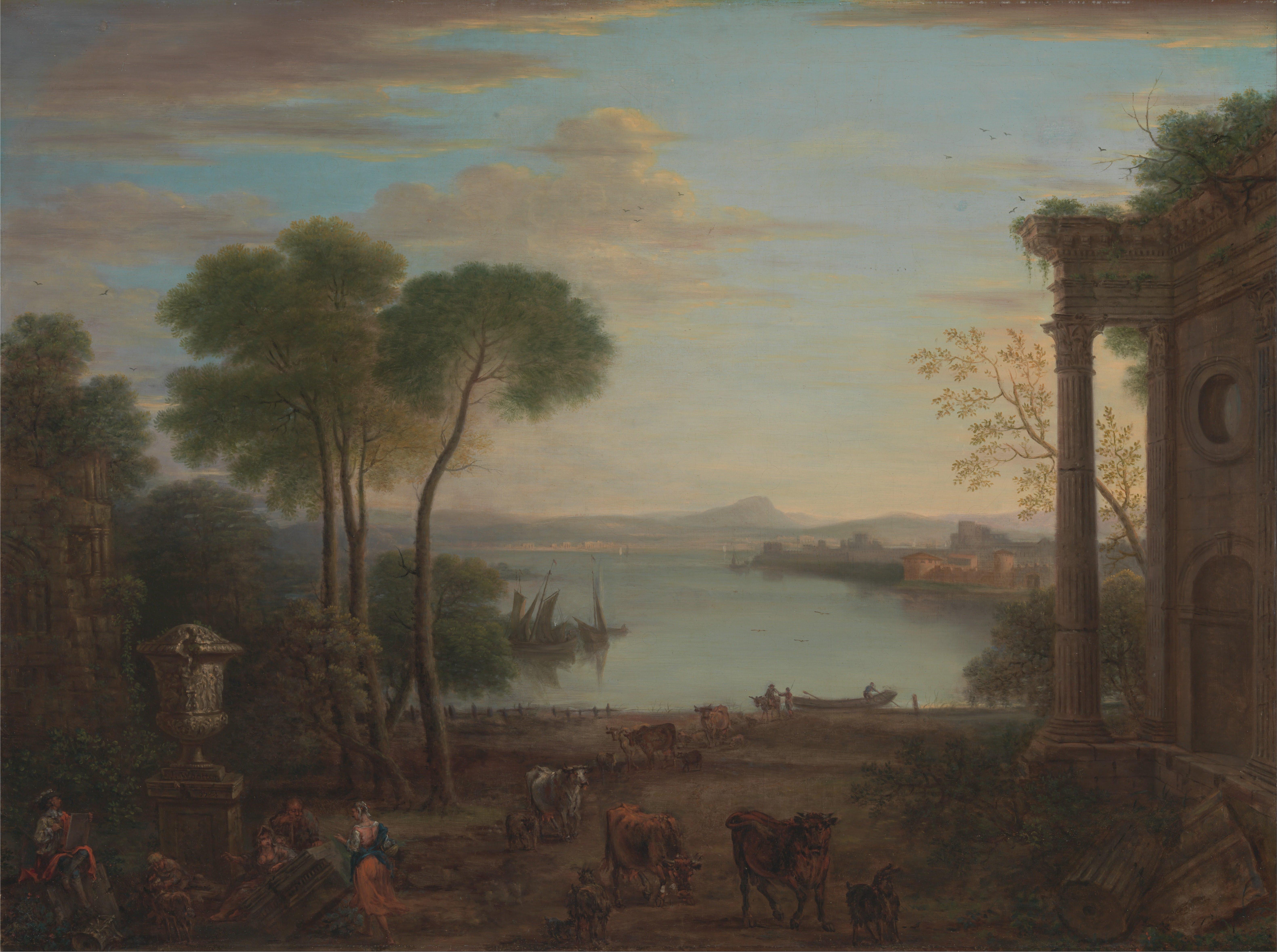 Karoly Marko A Classical Landscape painting anysize 50% off