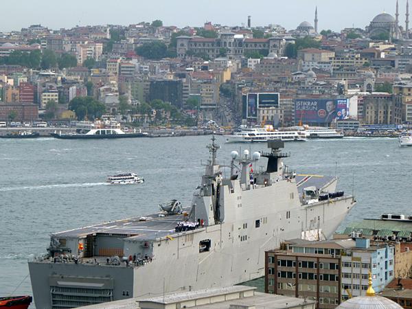 Spanish warship Juan Carlos L-61 visiting Istanbul.