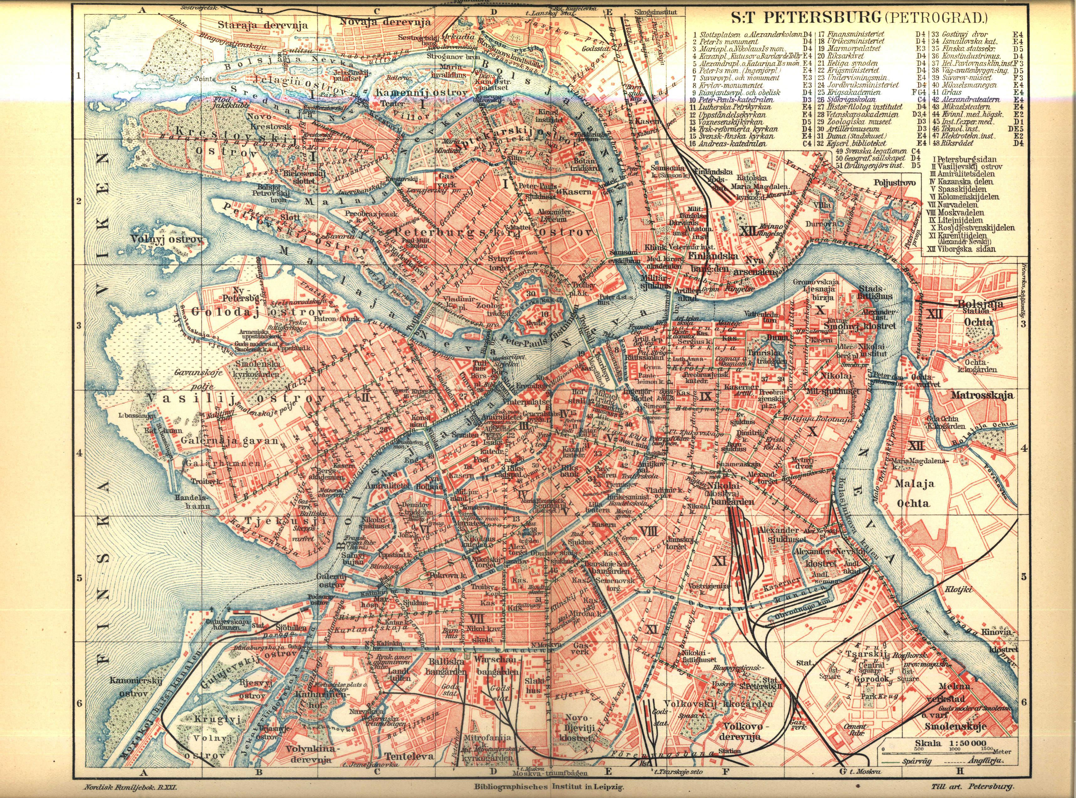 File Karta Over Sankt Petersburg Pa 1910 Talet Ur Nordisk