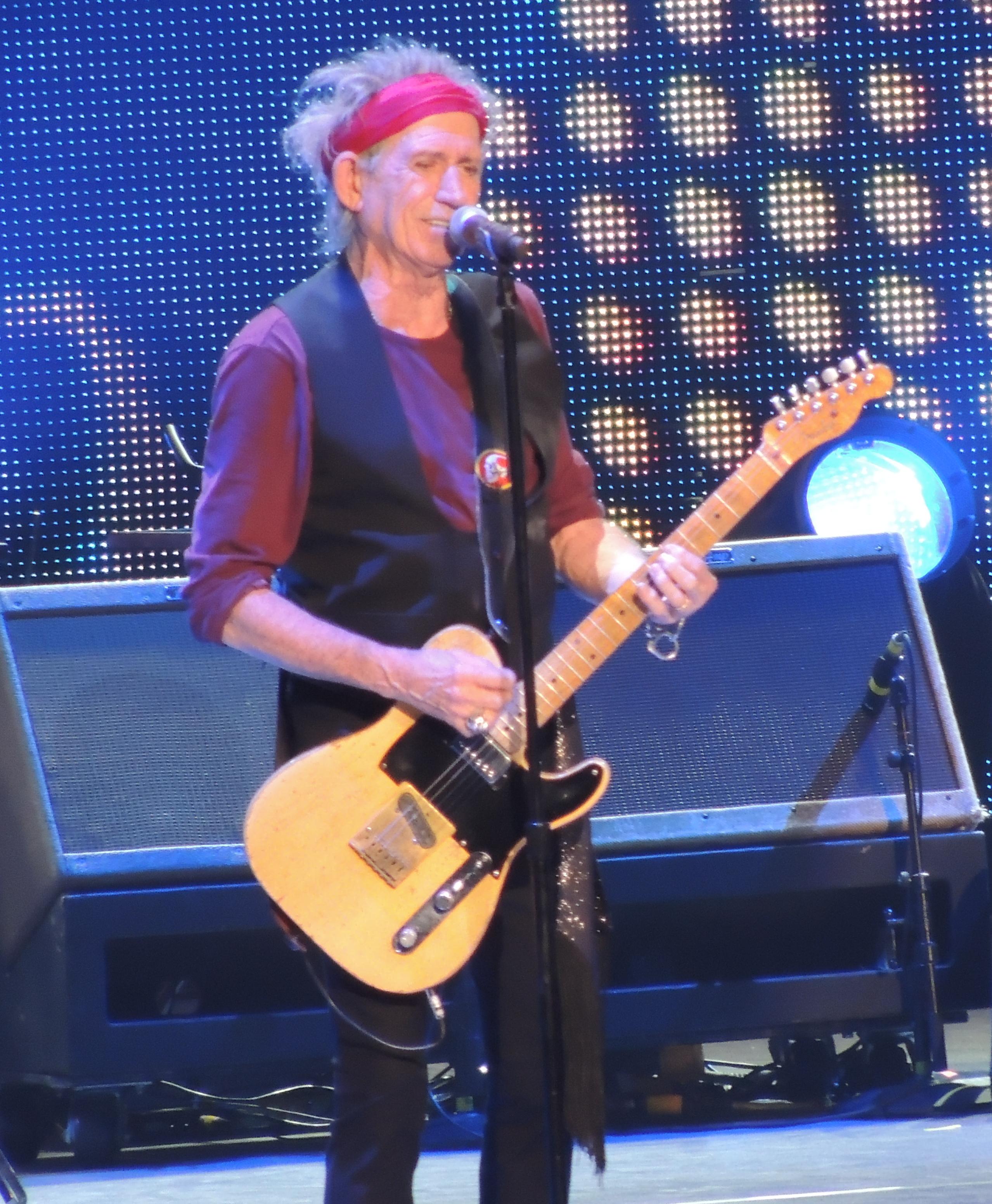 Richards junto con The Rolling Stones, durante el tour 50 & Counting, en diciembre, 2012.