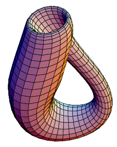 The Klein bottle immersed in three-dimensional...