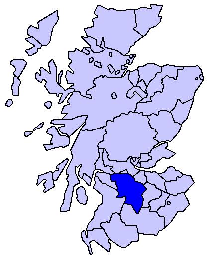 Lanarkshire map
