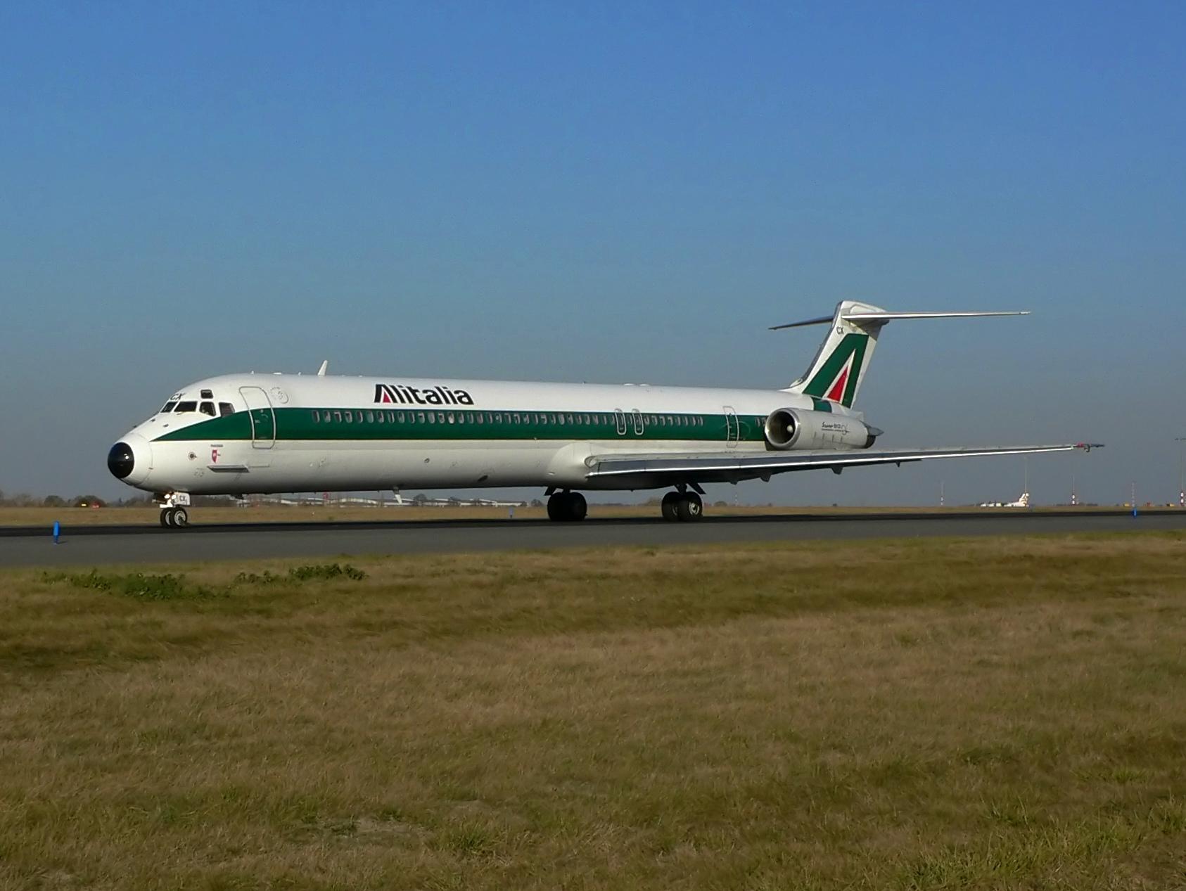 Avión MD-80 de Alitalia