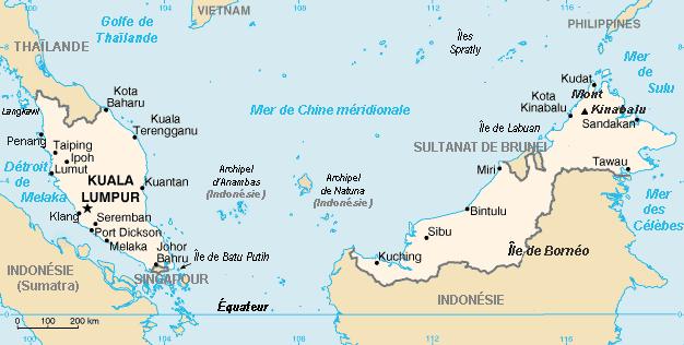 Géographie de la Malaisie — Wikipédia