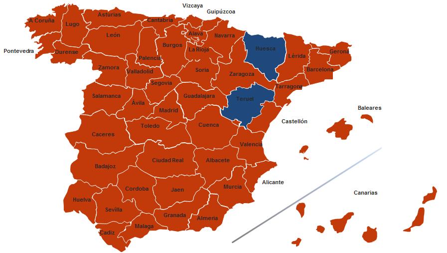 A Coruña Mapa España.File Mapa De Une En Espana Png Wikimedia Commons