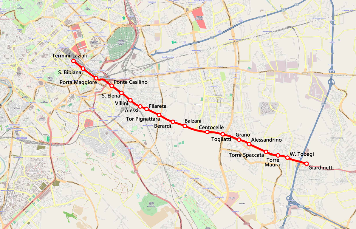 Cartina Roma Termini.Ferrovia Roma Giardinetti Wikipedia