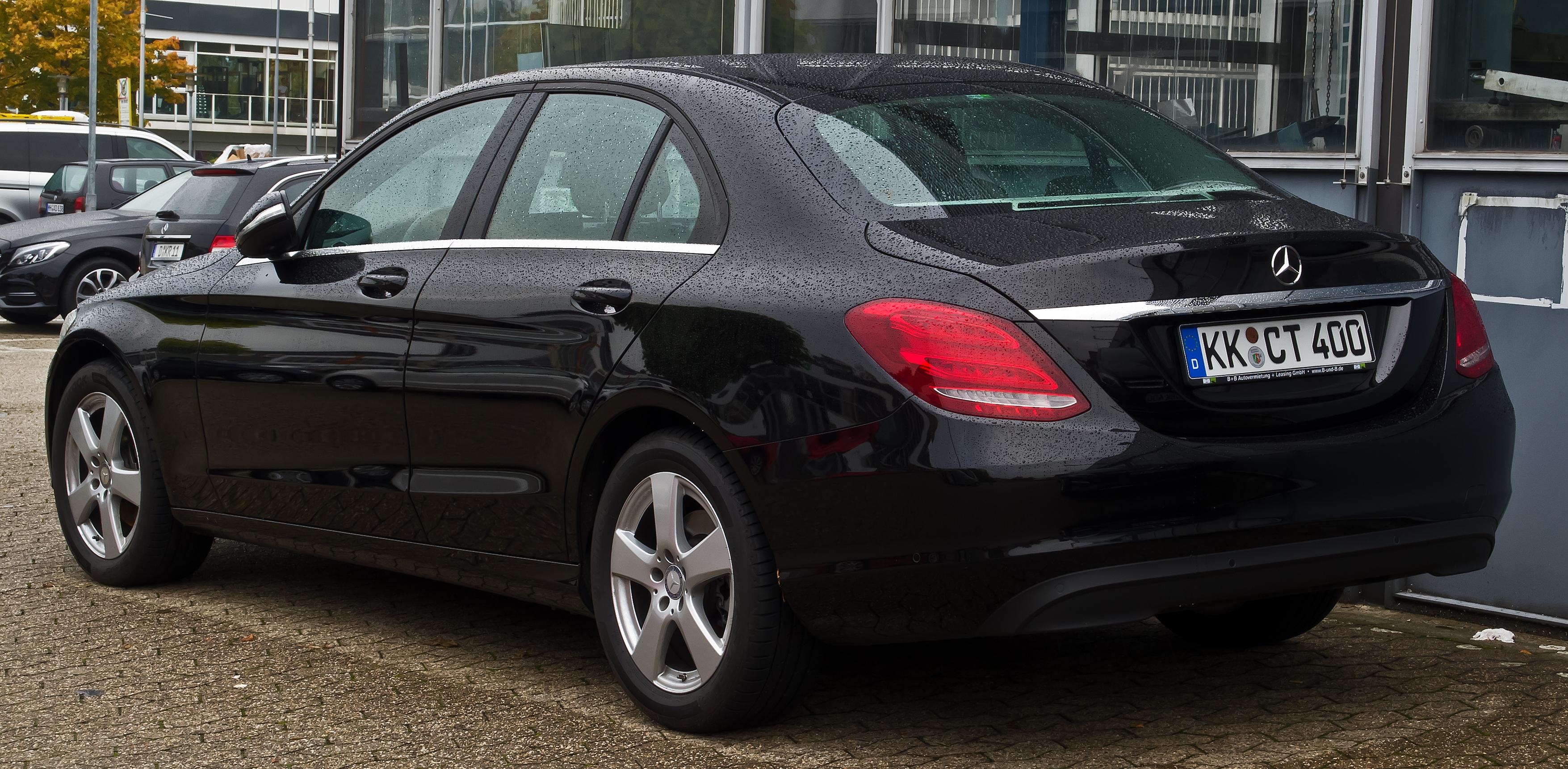 File:Mercedes-Benz C 200 d (W 205) – Heckansicht, 18 ...