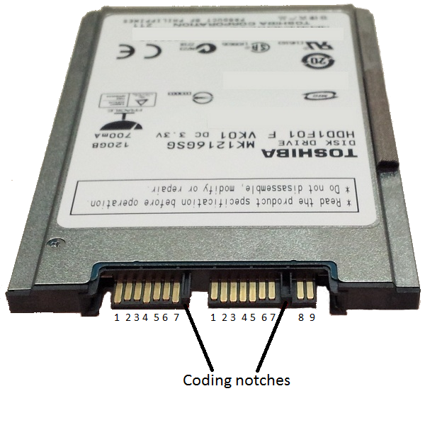 Податотека Micro Sata Pin Out On Toshiba Mk1216gsg