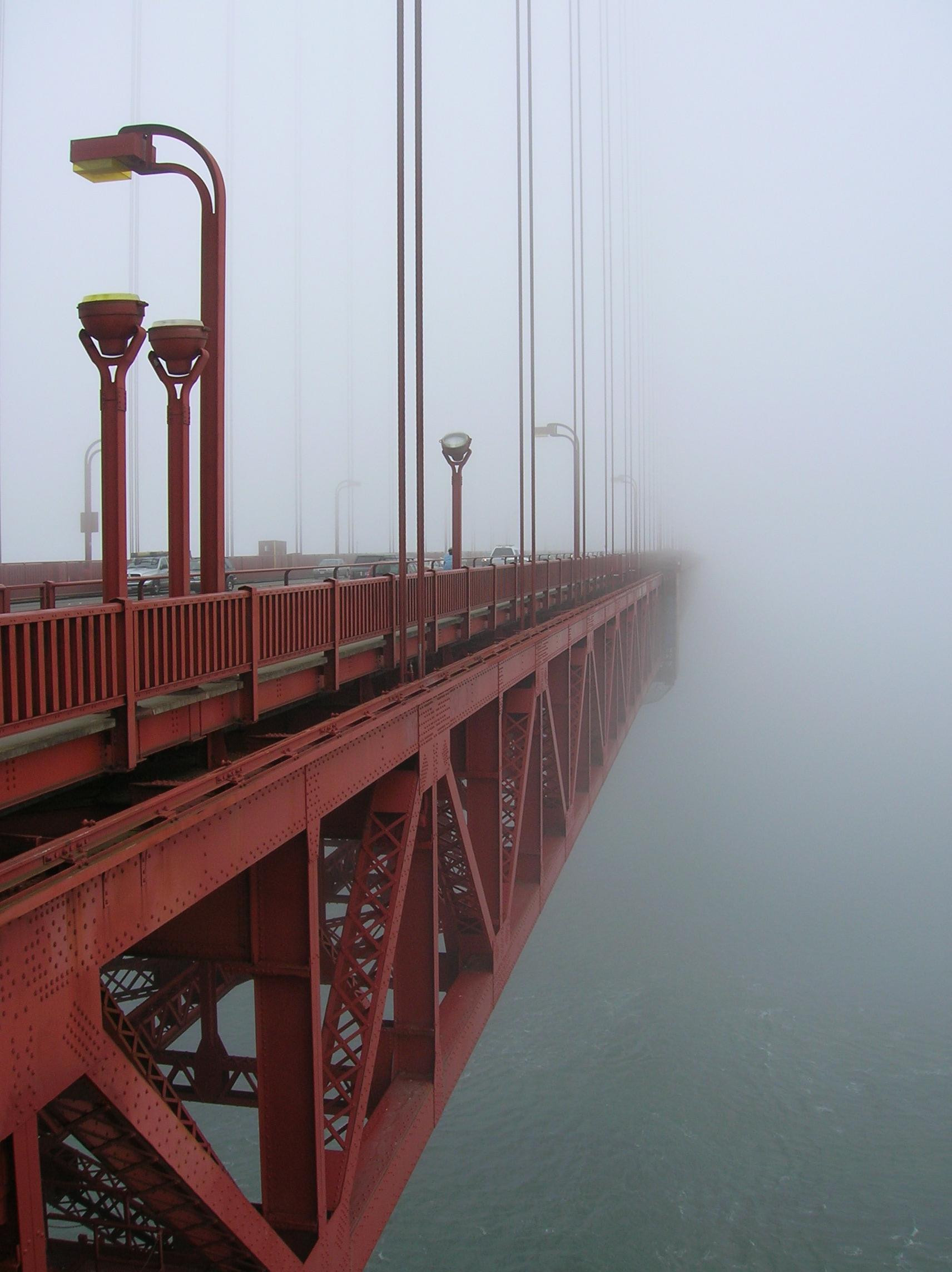 Golden Gate Bridge Morning Morning Fog at The Golden Gate