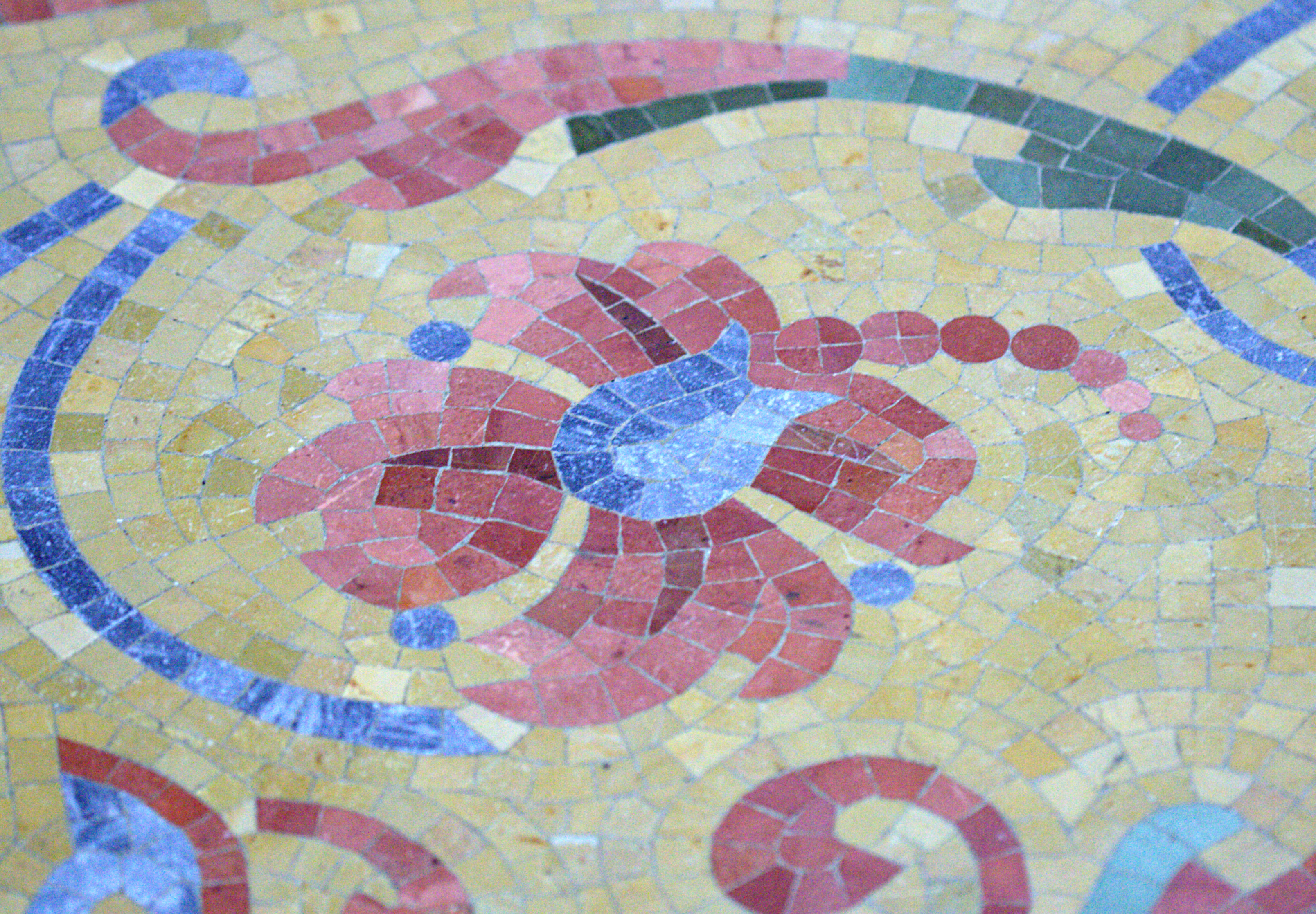 Filemosaic Tile Floor Of The Milwaukee Public Library Flowerg