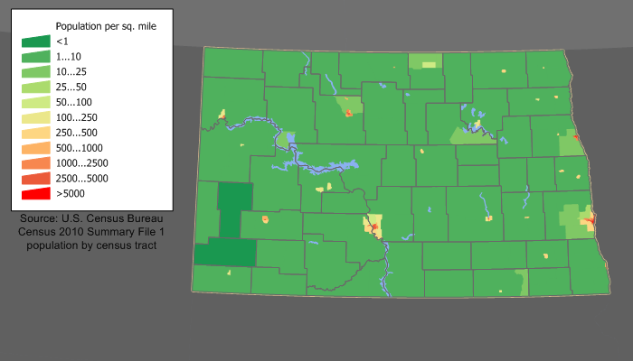 North Dakota population density North Dakota population map.png