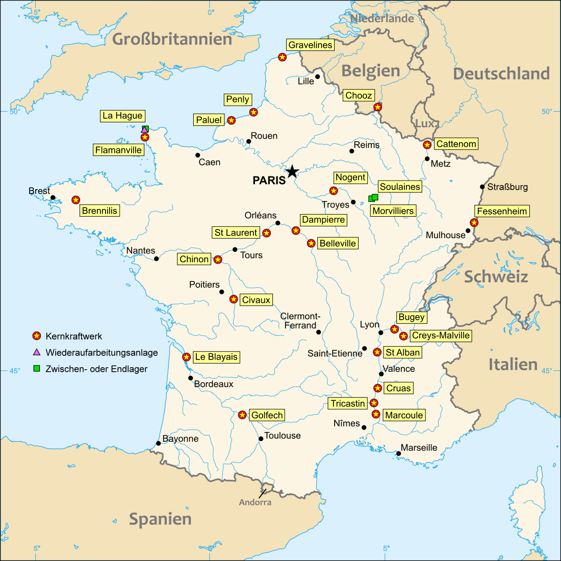 FileNuclear power plants map Francedepng Wikimedia Commons