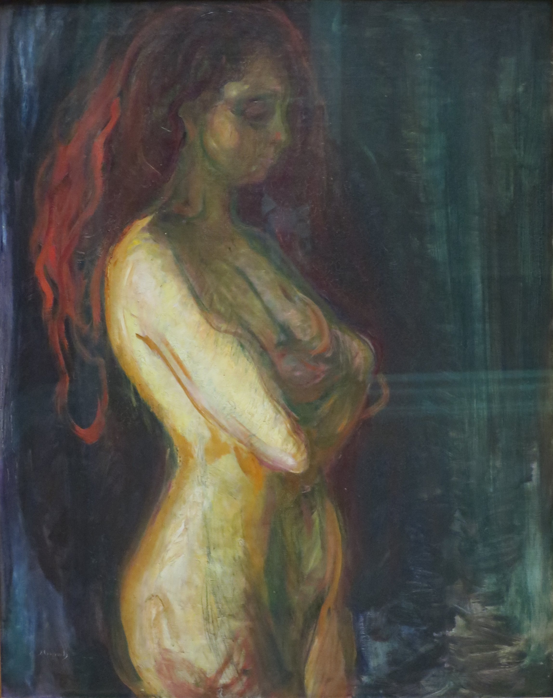 file:nude in profile towards the rightmunch, bergen kunstmuseum