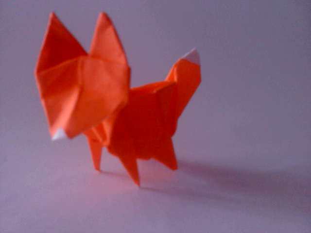 How to make a origami fox - Origami Tutorial | Origami fuchs ... | 480x640