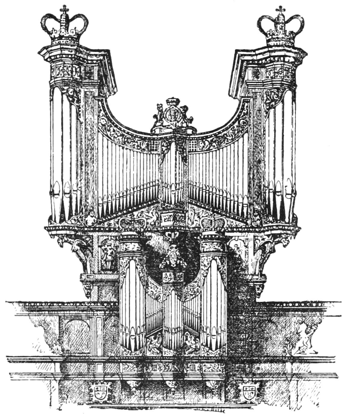 PSM V40 D648 Organ at kings college cambridge by dallam 1605.jpg