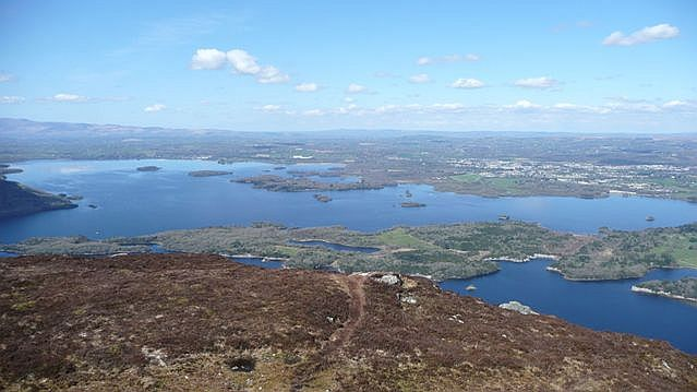 Panorama from Torc Mountain (2) - geograph.org.uk - 777017