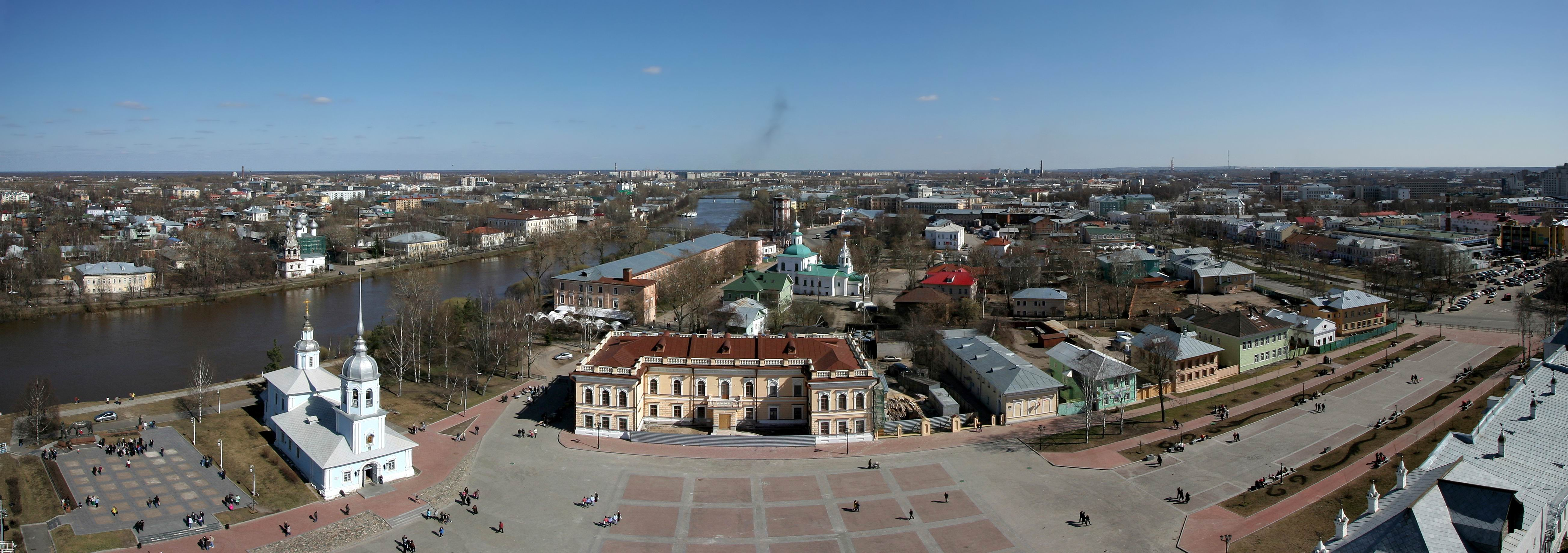 Вид на Вологду с колокольни