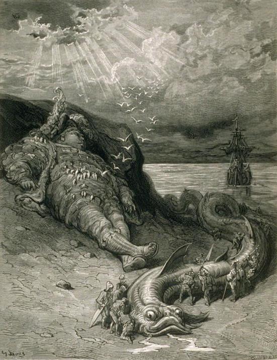 """Illustration du """"Quart livre"""" de François Rabelais par Gustave Doré (1832-1883)"""
