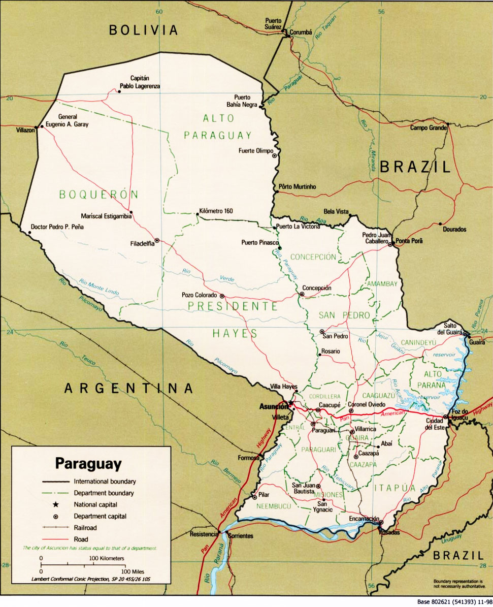 Atlas Of Paraguay Wikimedia Commons - Map of paraguay