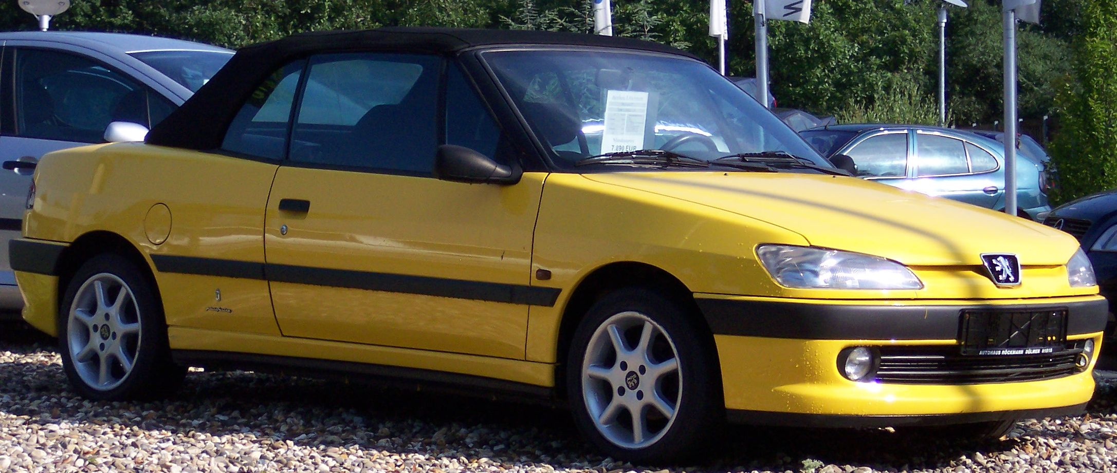 file peugeot 306 cabrio yellow wikimedia commons. Black Bedroom Furniture Sets. Home Design Ideas