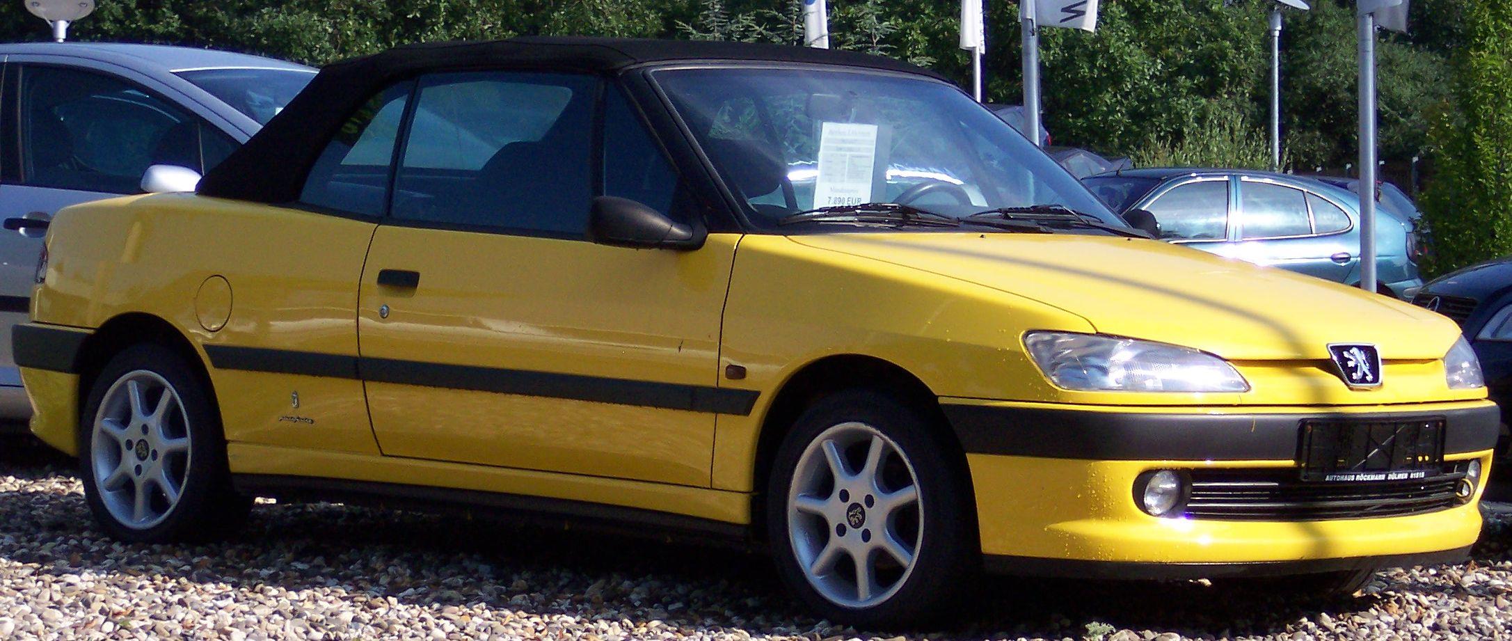 file peugeot 306 cabrio yellow wikipedia. Black Bedroom Furniture Sets. Home Design Ideas