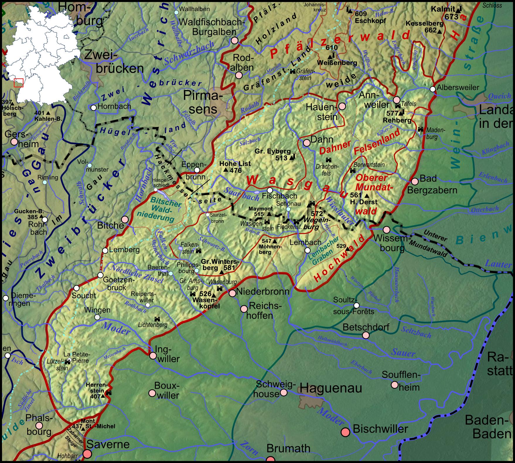 Elsass Karte Zum Ausdrucken.Wasgau Wikipedia