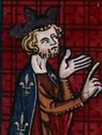 Philippe II dans une miniature du XIVesiècle