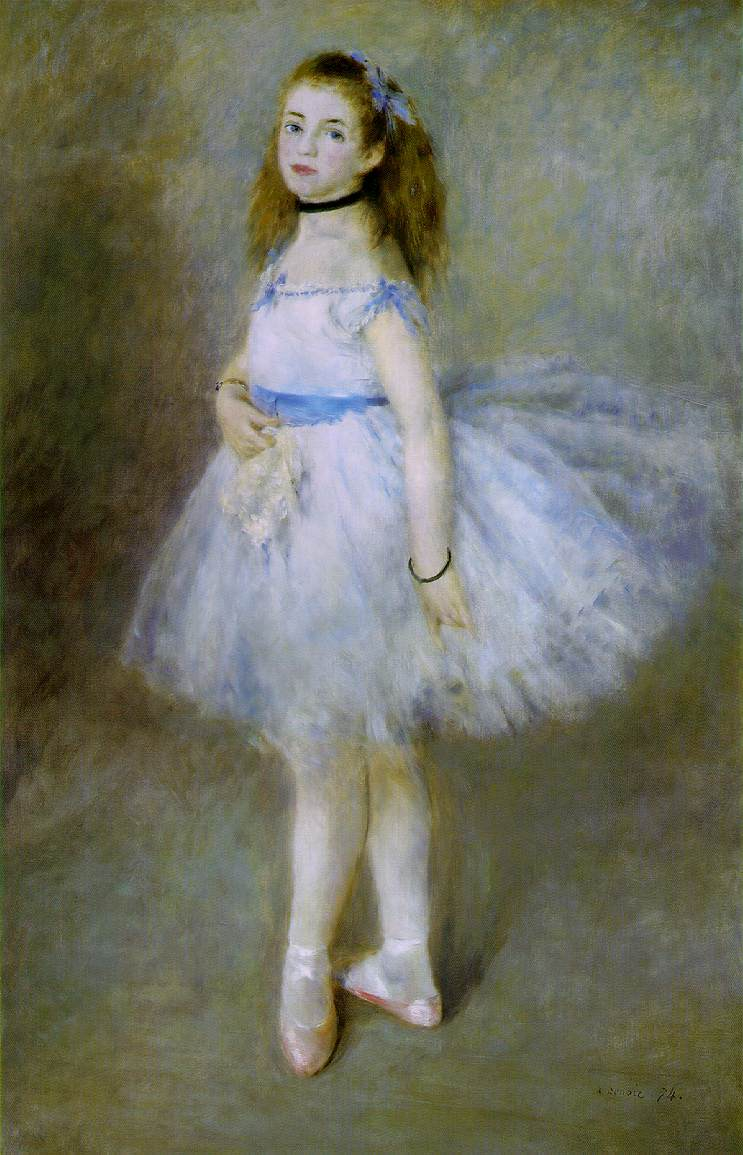 Pity, that Renoir girl with flowers can not