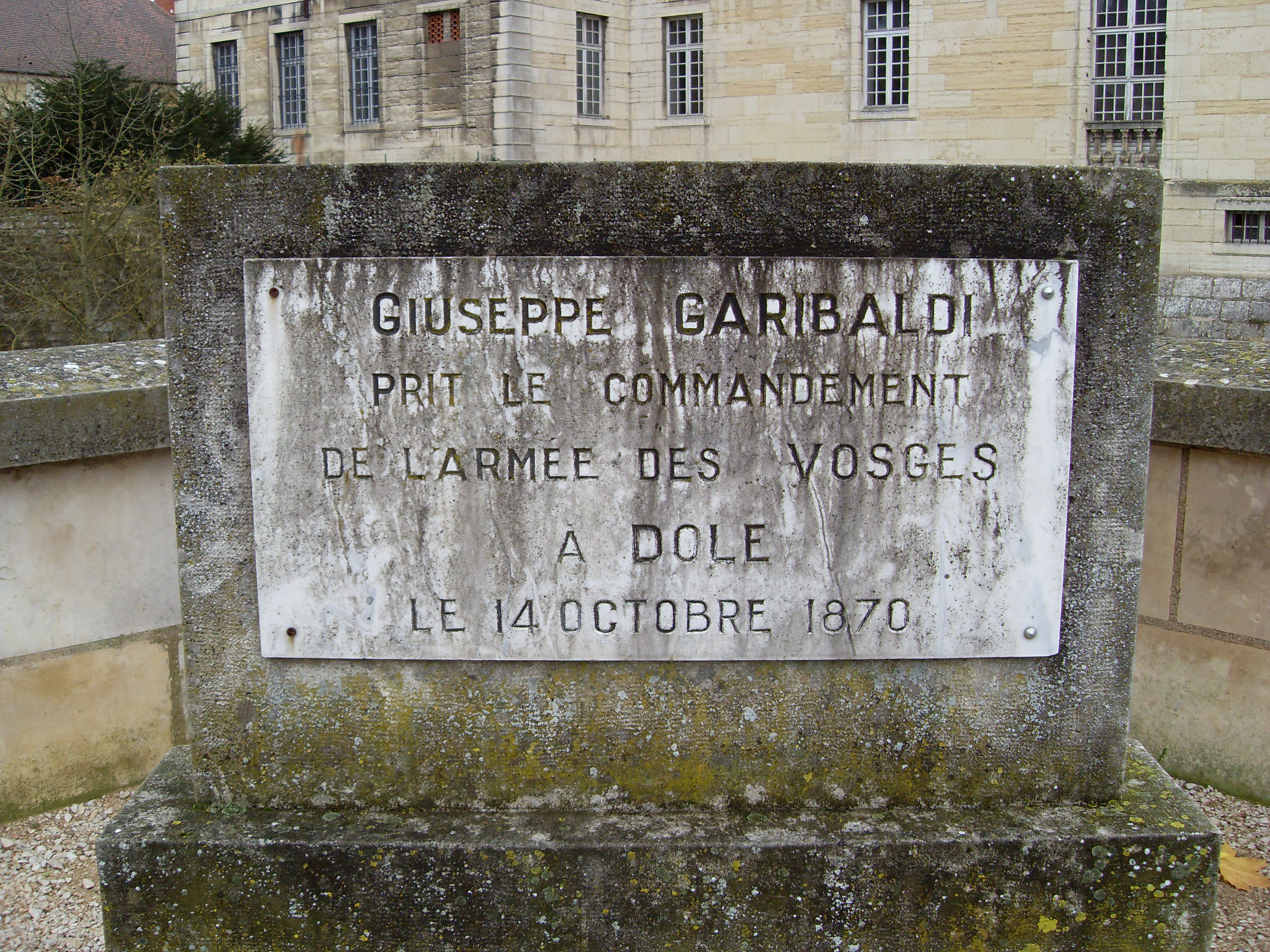 Fichier Plaque Giuseppe Garibaldi Dole Jura Jpg Wikipedia