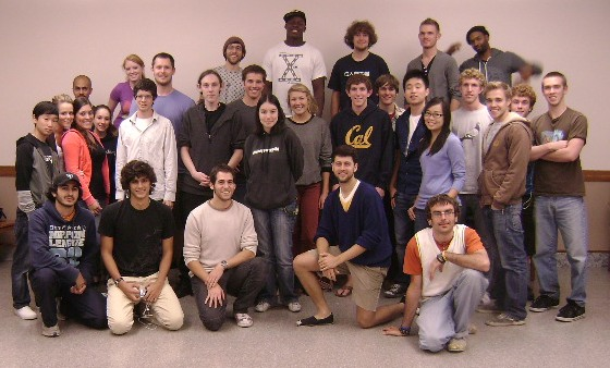 Politics of Piracy class photo, University of California at Berkeley