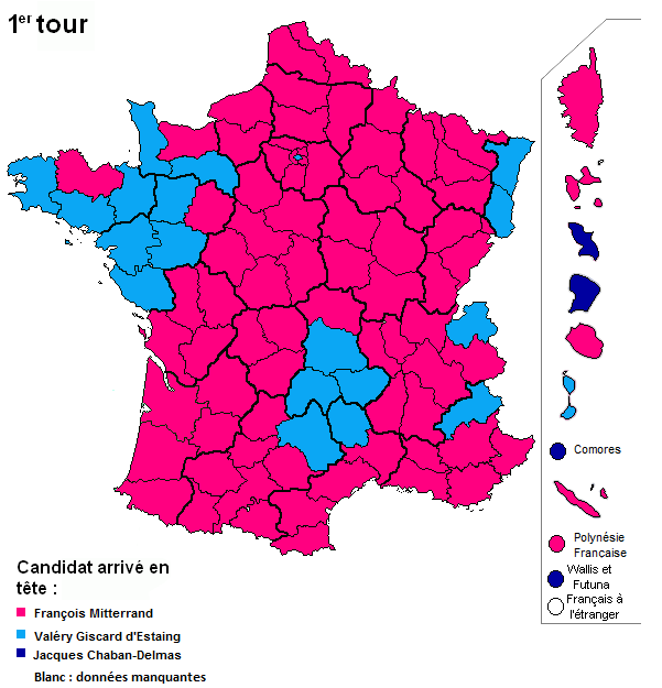 carte de france election 1974 French presidential election   Wikiwand